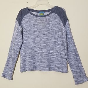 C&C California Grey Long Sleeves Sweater Size S